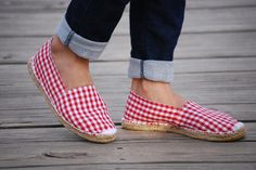 My gingham espadrilles for Spring/Summer. Photo via http://www.momfashionworld.com/2012/05/red-white-and-blue.html