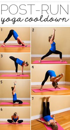 Need a cool-down after your run? Try this yoga sequence! #alvasbfm #fitness #yoga #run #stretch