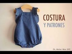 DIY Costura ranita tejana (patrones gratis) - Baby Girl Romper - Ideas of Baby Girl Romper - DIY Costura ranita tejana (patrones gratis) Baby Clothes Patterns, Sewing Patterns Free, Clothing Patterns, Free Pattern, Free Sewing, Knit Patterns, Diy Gifts Coworkers, Romper Tutorial, Diy Clothes Storage