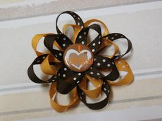 Thanksgiving hair bow looped stacked  by SweetPeaBowsBoutique, $5.00