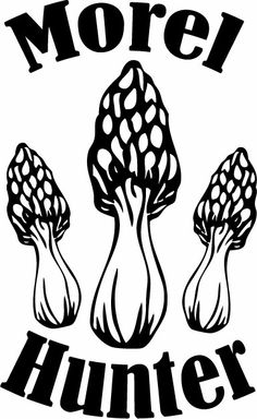 Morel Mushroom Hunter Decal - $4.99 - Handmade Vinyl Decals, Crafts and Unique Gifts by The Spot