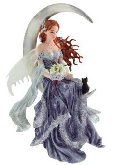 Amazon.com: Add An Accent - Nene Thomas ~ WIND MOON - Fairies On The Moon - Fantasy Fairy Figurine - 83927: Home & Kitchen