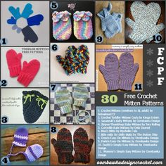 Free Crochet Pattern Friday - 30 Mitten Patterns
