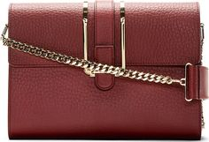 Chloé: Crimson Calfskin Bronte Medium Shoulder Bag