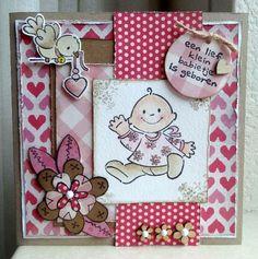 Een lief babykaartje van Annemarie en Merit.
