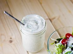 [ Recipe: Plant Strong Vegan Ranch Dressing (or Dip!) ] Made with: Mori-nu Lite Firm Silken Tofu, lemon juice, apple cider vinegar, kosher salt, sugar, soy milk, garlic, black pepper, chive, parsley and dill. ~ from fo Reals Life