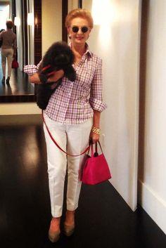 Carolina Herrera and her dog, Gaspar. [Photo Courtesy of Carolina Herrera]