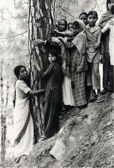 The original treehuggers were Indian women in the Chipko movement protecting the destruction of their village and livelihood--the trees.