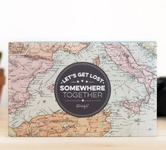* Let's get lost somewhere            I totally NEED this photo album