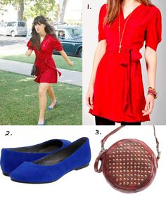 This website has all of Jess' clothes from the set of New Girl. I don't watch the show, but she typically dresses well.