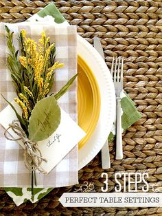 25 New Table Escape Ideas - How to create the perfect table setting in three steps! #BeOurGuest