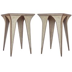 Stunning 'Origami' Side Tables in Concrete and Steel | 1stdibs.com