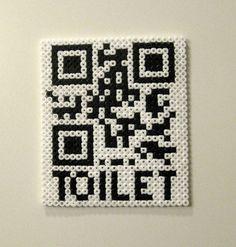 Perler bead Toilet QR-Code by Lærke Overgaard