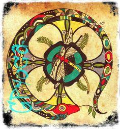 coming soon / AYAHUASCA Snake mandala DRAGONFLY totem for women Spiritual art Healing Art Womens TATTOOS. $39.00, via Etsy.