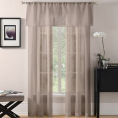 Laura Sheer Window Curtain Panel - BedBathandBeyond.com