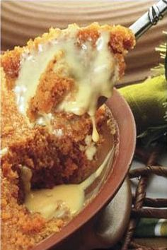 Brown Malva Pudding with Scottish Cream - a South African dessert Microwave Dishes, Microwave Baking, Microwave Recipes, Baking Recipes, Baking Ideas, Pizza Recipes, Sin Gluten, No Bake Desserts, Delicious Desserts
