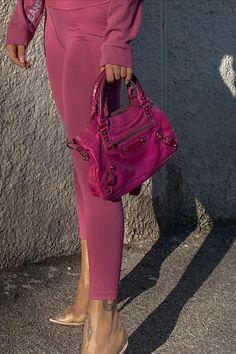 Pink Balenciaga, Balenciaga City Bag, Spring Bags, Small Leather Goods, Spring Fashion, Sporty, Pairs, Shoulder Bag, Clothes