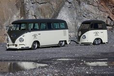 VW Bus with a VW Bus trailer?! I would travel the country in this!