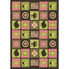 The Conestoga Trading Co. Green/Pink Area Rug Rug Size: