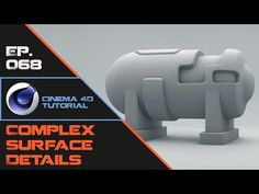 Using Split Disconnect and Subdivision to Make Complex Surface Details in Cinema 4D - YouTube