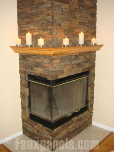 Corner fireplace by Faux Panels, via Flickr