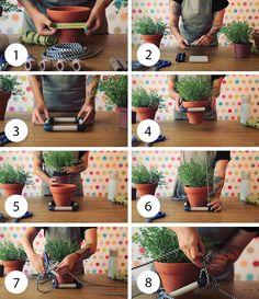 Passo a passo ensina como fazer um suporte para plantas
