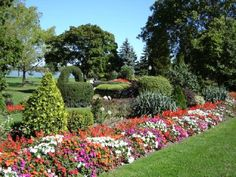 Garden beautifuly done accented with multi-colored impatients...