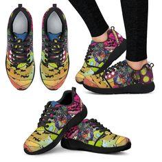 Rottweiler Design Women's Athletic Sneakers - Dean Russo Art