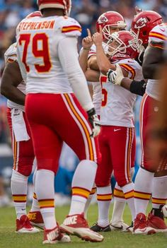 Kansas City Chiefs kicker Cairo Santos (5) was congratulated by his teammates on special teams after Santos' 48-yard field goal with :21 seconds left to beat the San Diego Chargers, 23-20, at Qualcomm Stadium in San Diego, CA on October 19, 2014.