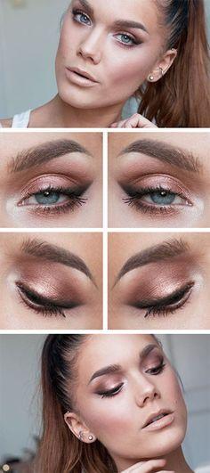 copper-eyeshadow-makeup-look-blue-eyes.jpg (400×900)