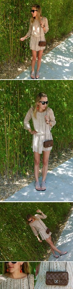 Rory Beca Dress + MIA Sandals + Chanel Clutch = Spring Strolling #rorybeca
