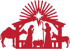 Silhouette Online Store: 1-pc nativity set