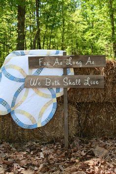 Wedding Sign - For As Long As We Both Shall Live - Rustic, Wooden Sign From…