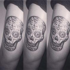 #SugarSkullTattoo #MexicanSkull #SugarSkull