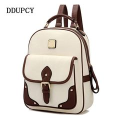 DDUPCY 2017 Fashion High Quality Brand Patchwork Women Travel Bag Women's PU Leather Backpack  School Backpack //Price: $20.06 & FREE Shipping //     #bpstylesandtrends  #beauty