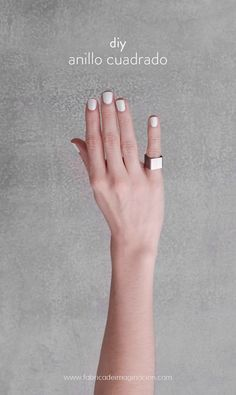 DIY Square Ring | DIY Fábrica de imaginación | DIY Anillo Cuadrado | http://www.fabricadeimaginacion.com