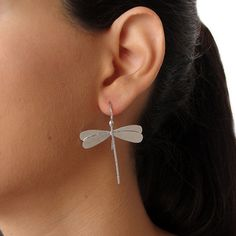 Dragonfly earrings, handmade sterling silver dragonfly earrings, dragonfly earrings for her, statement earrings, valentine gifts, earings on Etsy, $67.93 AUD