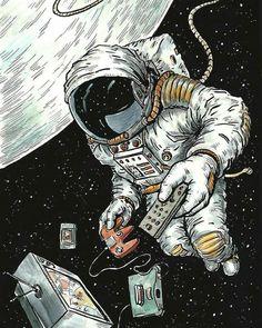 Wallpaper a r t space illustration, astronaut illustration e astronaut draw Astronaut Drawing, Astronaut Illustration, Space Illustration, Wallpaper Space, Tumblr Wallpaper, Galaxy Wallpaper, Space Drawings, Art Drawings, Vexx Art