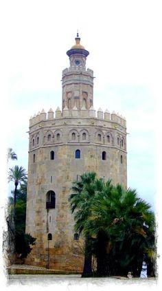 Sevilla - Torre del Oro. Iberian Peninsula, Granada, Seville Spain, Morocco Travel, Spain And Portugal, Spain Travel, Wanderlust Travel, Traveling By Yourself, Places To Visit