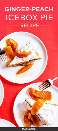 ... Icebox Ginger Peach Pie. Check out his recipe to see how he does it