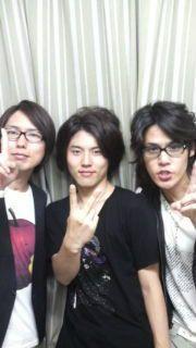 Kamiya Hiroshi, Irino Miyu, Miyano Mamoru. Love the メガネ男 look