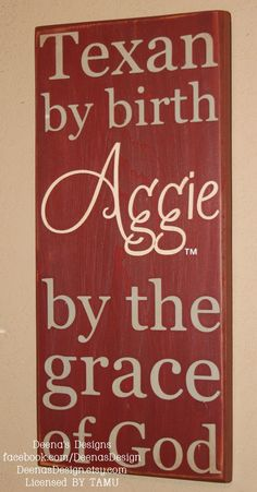 TAMU Texas Aggies Wall Sign by DeenasDesign, $31.00 - https://www.facebook.com/DeenasDesign
