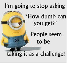 Wonderful Minions · Minion HumorMinion SFunny MinionDumb People QuotesDumb ...