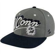 Zephyr UCONN Huskies Shadow Script Snapback Hat - Gray-Black