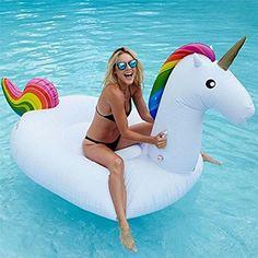 JYSPORT Galleggiante Unicorn - Materassino Gonfiabile piscina zattera Salvagente - Letto Flottante materassi ad aria giocattolo (Einhorn)