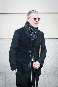 The Best Dressed Men of London Fashion Week...Nick Wooster #mens #fashion