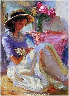 """""""Pink Peonies"""" (2005) by Vladimir Volegov."""