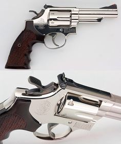 4 inch s&w model 19-2 nickel .357 magnum