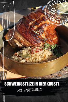 Besonders im Spätsommer und frühen Herbst ein großartiges Gericht und am Grill mit ein wenig Zeit leicht zubereitet. Sauerkraut, Pork, Meat, Beer, Crickets, Easy Meals, Food Food, Food Recipes, Kale Stir Fry