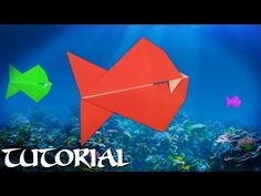 Origami Biting Piranha Tutorial v2 - YouTube